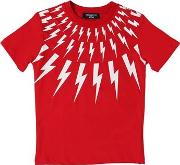 Bolts Printed Cotton Jersey T Shirt