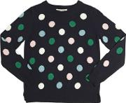 Polka Dot Wool & Cashmere Blend Sweater