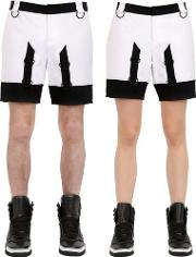 Two Tone Cotton Shorts