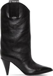 90mm Leather Cowboy Boots