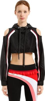 Lanai Hooded Cropped Track Top