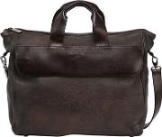 Leather Briefcase Bag W Vintage Effect