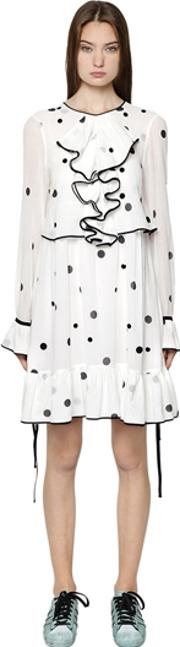 Polka Dot Printed Cotton Voile Dress