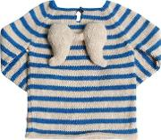 Angel Striped Baby Alpaca Knit Sweater