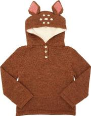 Bambi Hooded Baby Alpaca Knit Sweater