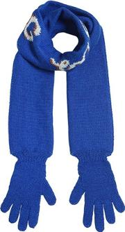 Hug Me Double Tricot Scarf W Gloves