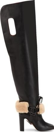 100mm Equestrian Leather Boots