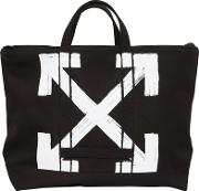 Brushed Arrows Canvas Tote Bag