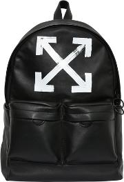 Brushed Arrows Leather Backpack