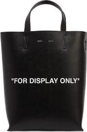 For Display Only Leather Tote Bag