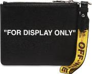 For Display Only Print Leather Pouch