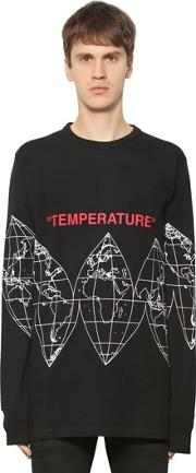 Oversize Map Jersey Long Sleeve T Shirt