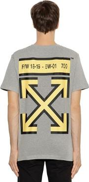 Oversized Arrows Print Jersey T Shirt