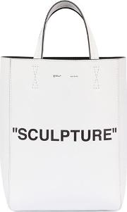 Sculpture Printed Leather Tote Bag