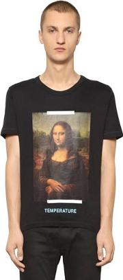 Slim Fit Monalisa Cotton Jersey T Shirt