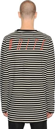 Striped Cotton Jersey T Shirt