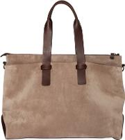 Suede & Leather Duffle Bag