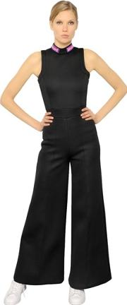 Embroidered Patches Neoprene Jumpsuit