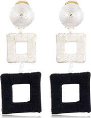 Wrapped Double Square Earrings
