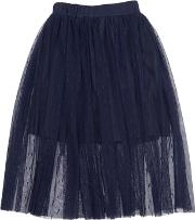 Stretch Tulle Long Skirt