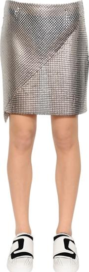 Metal Mesh Mini Skirt
