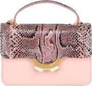 Small Leather Bag With Python Details