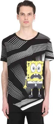 Shocked Spongebob Cotton Jersey T Shirt
