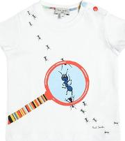 Ants Printed Cotton Jersey T Shirt