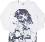 Astronaut & Car Cotton Jersey T Shirt