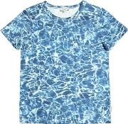 Pool Print Cotton Jersey T Shirt