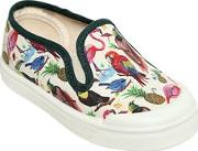 Liberty Cotton Canvas Slip On Sneakers