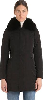 Metropolitan Gb Down Coat W Fur Collar