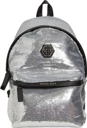 Sequins & Faux Leather Backpack