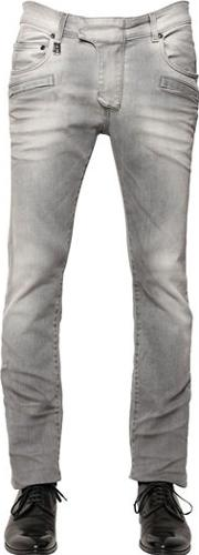 15.5cm Faded Effect Stretch Denim Jeans