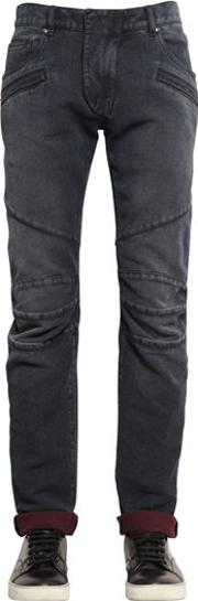 16.5cm Biker Cotton Denim Jeans