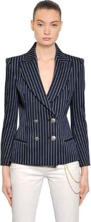 Double Breasted Stretch Cotton Jacket
