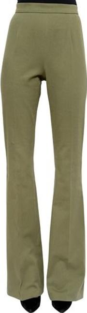 High Rise Stretch Twill Flared Pants