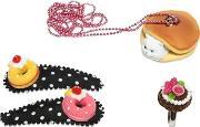 Funny Cat Ring, Necklace & Hairclip Set