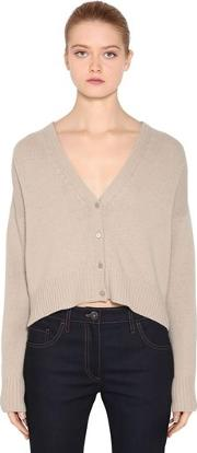 Cropped Wool & Cashmere Cardigan