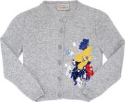 Mia Embroidered Wool Blend Cardigan