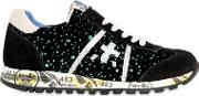 Lucy Glittered Suede Sneakers