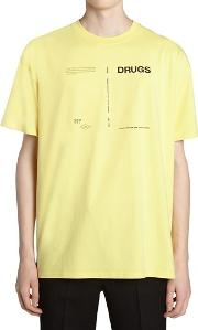 Drugs Printed Cotton Jersey T Shirt