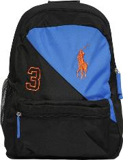 Embroidered Logo Cotton Canvas Backpack