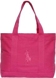 Embroidered Logo Cotton Canvas Bag
