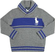 Embroidered Logo Tricot Cotton Sweater