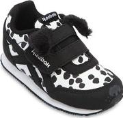Dog Faux Leather Strap Sneakers