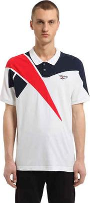 Retro Cotton Pique Polo Shirt