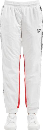 Two Tone Track Pants W Logo Side Bands