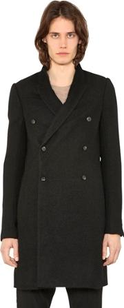 Double Breasted Mohair Blend Peacoat