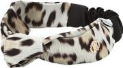 Leo Printed Stretch Satin Headband